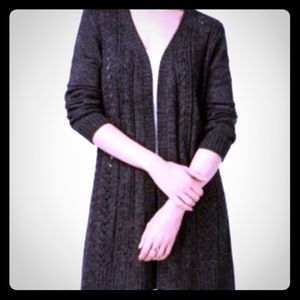 NWT Karen Scott Open Front Long Duster Cardigan